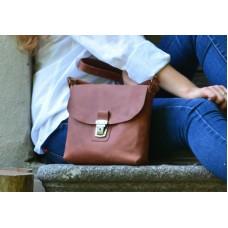 Женская кожаная сумка Сrossbody 886065 коньяк