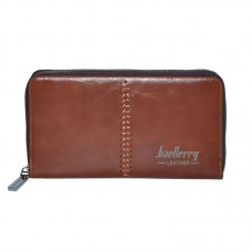 Мужское портмоне Baellerry Leather коричневое