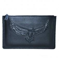 Шкіряний клатч Beallerry Eagle чорний
