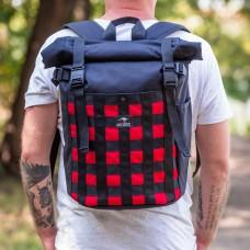 Городской рюкзак Bag Magic Tartan Red черный