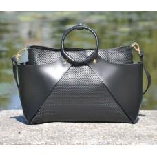 08a61b18b6af Женская кожаная сумка 10710013 11 черная