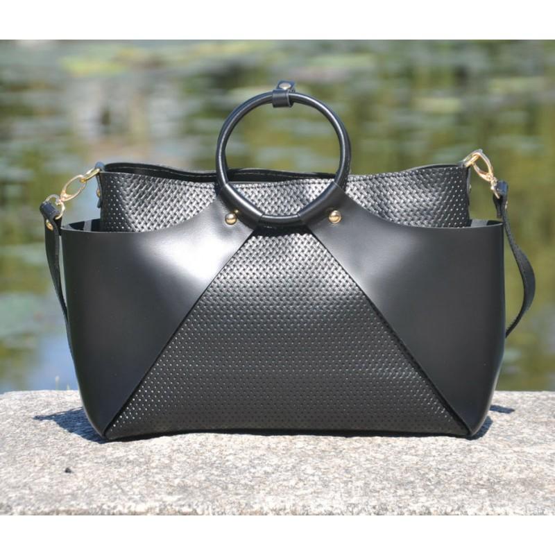 10791ebd4f87 Женская кожаная сумка 10710013/11 черная