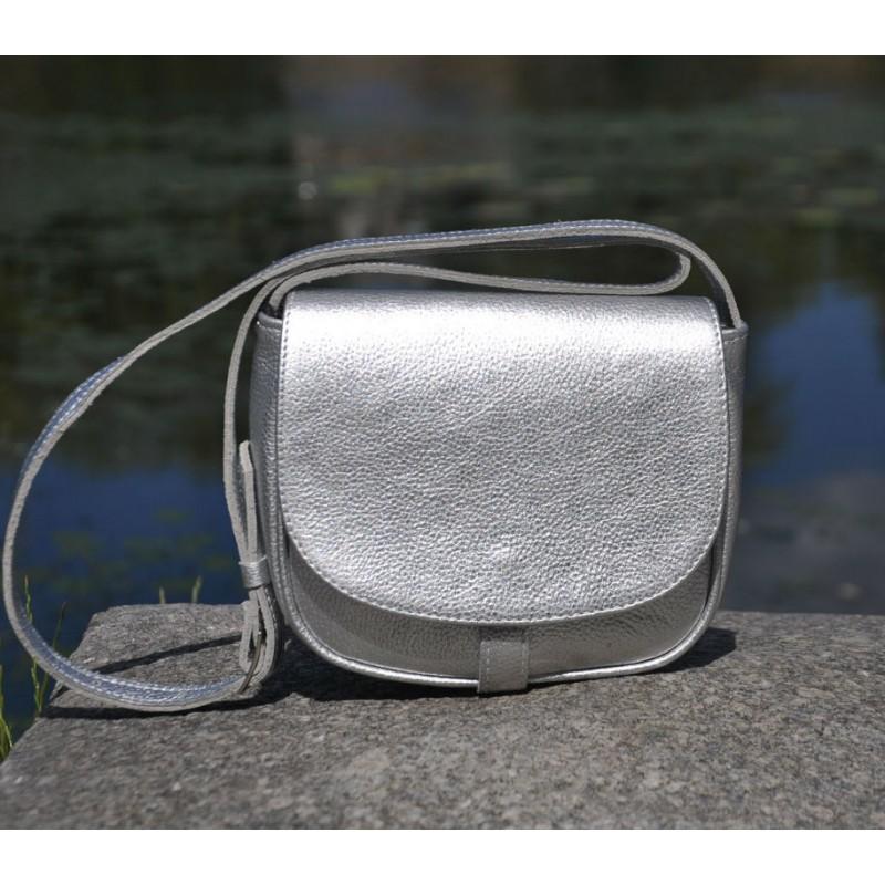 3e822903adb9 ᐉ Женский кожаный клатч 12510612 серебристый купить недорого в ...