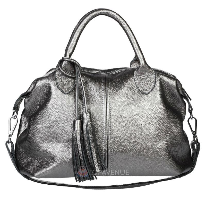 ᐉ Жіноча шкіряна сумка Барселона нікель купити в Києві і Україні a6d975314d850