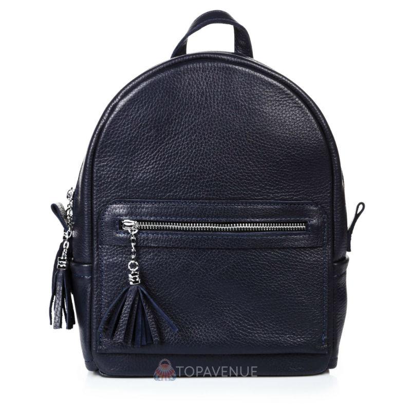 ff01b6c0da87 Женский кожаный рюкзак Meri синий