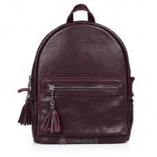 Женский кожаный рюкзак Meri виноградный