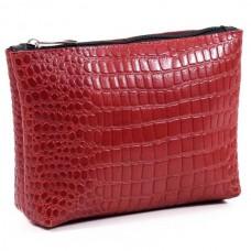 Жіноча косметичка шкіряна CB010203-red кайман червона