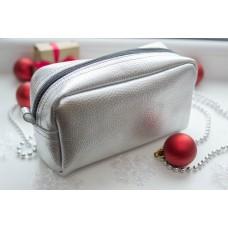 Жіноча косметичка шкіряна CB030107-silver срібло