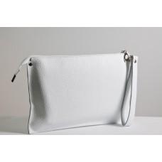 Жіночий клатч шкіряний K010105-white білий