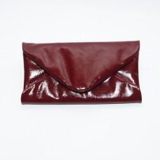 Жіночий клатч шкіряний K020420-bordo наплак бордо