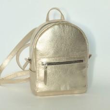 Жіночий шкіряний рюкзак B020110-gold золотий