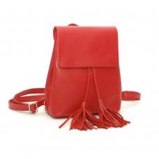 Жіночий шкіряний рюкзак B030101-red червоний