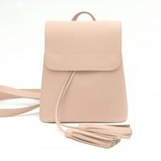 Жіночий шкіряний рюкзак B030102-powder пудра
