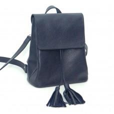 Жіночий шкіряний рюкзак B030104-dblue синій