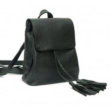 Жіночий шкіряний рюкзак B030105-black чорний
