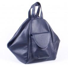 Жіночий шкіряний рюкзак-трансформер B040103-dblue синій