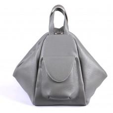 Жіночий шкіряний рюкзак-трансформер B040104-gray сірий