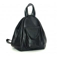 Жіночий шкіряний рюкзак-трансформер B040105-black чорний