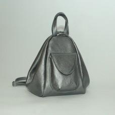 Жіночий шкіряний рюкзак-трансформер B040115-nikel нікель