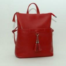Жіночий шкіряний рюкзак-трансформер B050103-red червоний