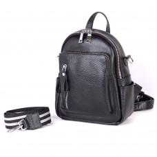 Жіночий шкіряний рюкзак B070101-black чорний