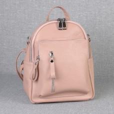 Жіночий шкіряний рюкзак B070106-powder пудра