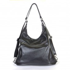 Жіночий шкіряний рюкзак-трансформер B530101-black чорний