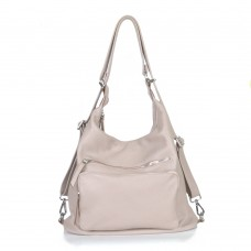 Жіночий шкіряний рюкзак-трансформер B530113-cappuccino капучіно