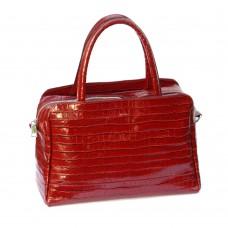 Сумка шкіряна жіноча S550203-red кайман червона
