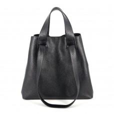 Сумка шкіряна жіноча S560101-black чорна