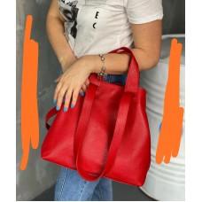 Сумка шкіряна жіноча S560103-red червона
