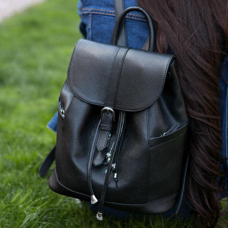 34d894572ebc Кожаный рюкзак Олсен оникс + кошелек 2.0! купить от производителя ...