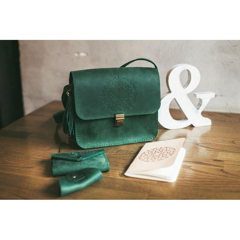 7cb5b604ae6f Бохо-сумка «Лилу» изумрудная купить от производителя недорого в ...