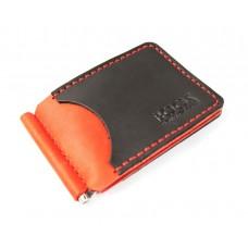 Зажим для денег обычный BOGZ P34M5S1 красно-черный