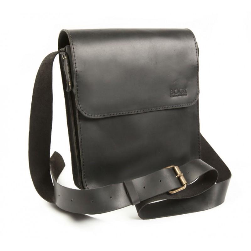 Шкіряна чоловіча сумка «Серж» P27M5S6 чорний BOGZ від виробника cf013d1a06e5b