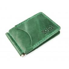 Зажим для денег обычный BOGZ P34M9S9 зеленый