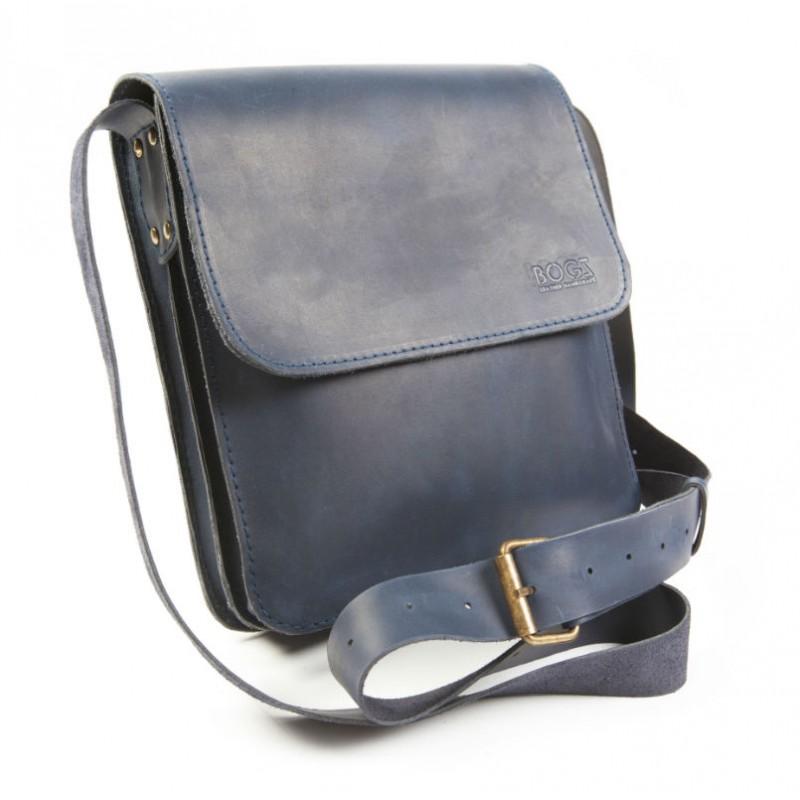 9776e56b0283 Кожаная мужская сумка «Серж» P27M8S8 синий BOGZ от производителя