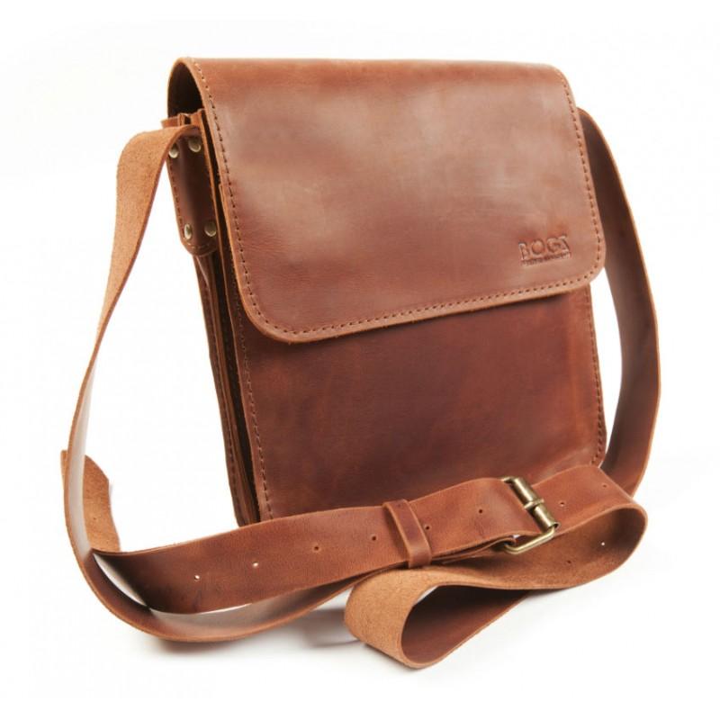 99fdd5164b3b Кожаная мужская сумка «Серж» P27M10S3 коричневый BOGZ от производителя