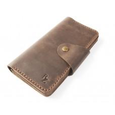 Шкіряний гаманець Bogz «Мадлен» P19M7S3 коричневий