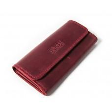 Шкіряний гаманець Bogz «Медісон» P4M48S5 бордовий