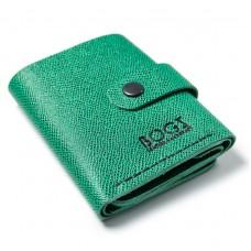 Шкіряний гаманець Bogz «Рол» зелений P18M31S6