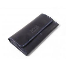 Шкіряний гаманець Bogz «Медісон» P4M8S8 синій