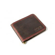 Зажим для денег кожаный Bogz «Cosmos» P8M7S1 коричневый