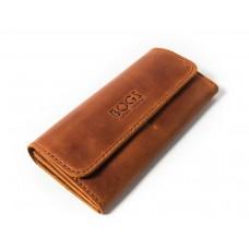 Шкіряний гаманець Bogz «Медісон» P4M10S3 коричневий
