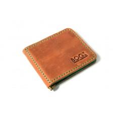 Зажим для денег кожаный Bogz «Cosmos» P8M10M9S9 коричневый