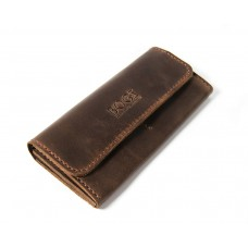 Шкіряний гаманець Bogz «Медісон» P4M7S3 коричневий