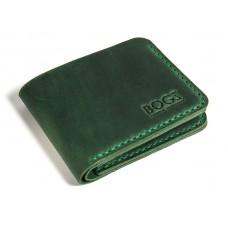 Портмоне кожаное BOGZ «Жан» P25M9S9 зеленое