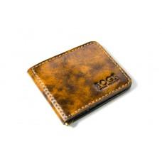 Зажим для денег кожаный Bogz «Cosmos» P8M2M5S2 коричневый лак
