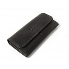 Шкіряний гаманець Bogz «Медісон» P4M5S6 чорний