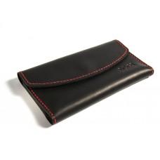 Шкіряний гаманець Bogz «Євніка» P28M31S4 чорний